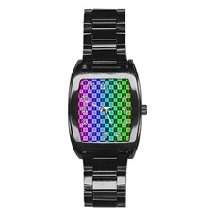Checker Number One Stainless Steel Barrel Watch