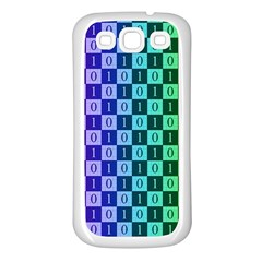 Checker Number One Samsung Galaxy S3 Back Case (White)