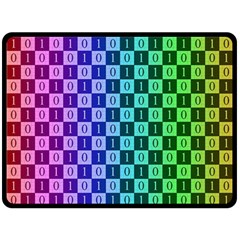Checker Number One Double Sided Fleece Blanket (Large)