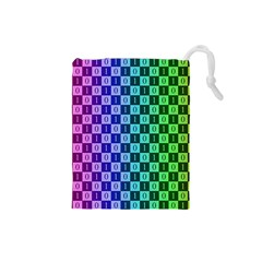 Checker Number One Drawstring Pouches (Small)