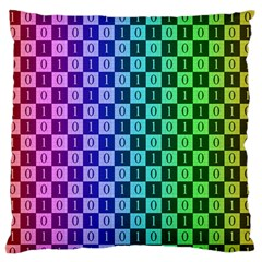 Checker Number One Standard Flano Cushion Case (One Side)