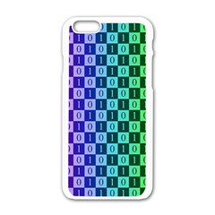 Checker Number One Apple iPhone 6/6S White Enamel Case