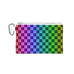 Checker Number One Canvas Cosmetic Bag (S)