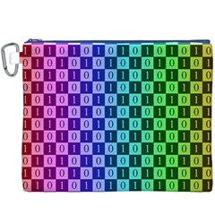 Checker Number One Canvas Cosmetic Bag (XXXL)