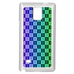 Checker Number One Samsung Galaxy Note 4 Case (White)