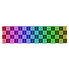 Checker Number One Satin Scarf (Oblong)