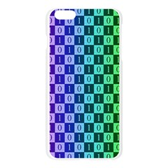 Checker Number One Apple Seamless iPhone 6 Plus/6S Plus Case (Transparent)