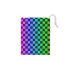 Checker Number One Drawstring Pouches (XS)