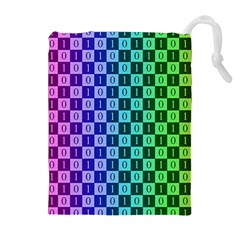 Checker Number One Drawstring Pouches (Extra Large)