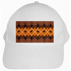 African Pattern Deer Orange White Cap