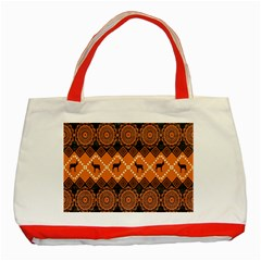 African Pattern Deer Orange Classic Tote Bag (Red)