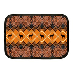 African Pattern Deer Orange Netbook Case (Medium)