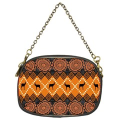 African Pattern Deer Orange Chain Purses (Two Sides)