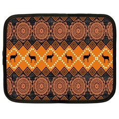 African Pattern Deer Orange Netbook Case (XXL)