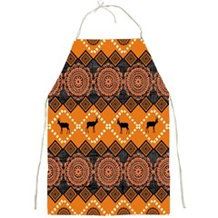 African Pattern Deer Orange Full Print Aprons
