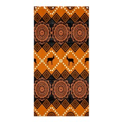 African Pattern Deer Orange Shower Curtain 36  x 72  (Stall)