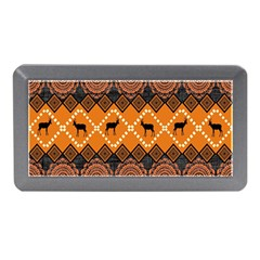 African Pattern Deer Orange Memory Card Reader (Mini)