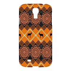 African Pattern Deer Orange Samsung Galaxy S4 I9500/I9505 Hardshell Case