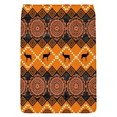 African Pattern Deer Orange Flap Covers (S)
