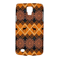 African Pattern Deer Orange Galaxy S4 Active