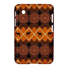 African Pattern Deer Orange Samsung Galaxy Tab 2 (7 ) P3100 Hardshell Case