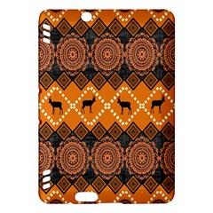 African Pattern Deer Orange Kindle Fire HDX Hardshell Case