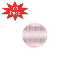 Dalmatian Red Circle 1  Mini Buttons (100 pack)