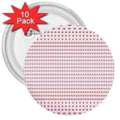 Dalmatian Red Circle 3  Buttons (10 pack)