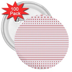 Dalmatian Red Circle 3  Buttons (100 pack)