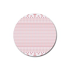 Dalmatian Red Circle Rubber Round Coaster (4 pack)