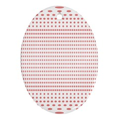 Dalmatian Red Circle Oval Ornament (Two Sides)