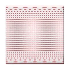 Dalmatian Red Circle Face Towel
