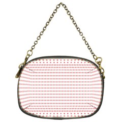 Dalmatian Red Circle Chain Purses (One Side)