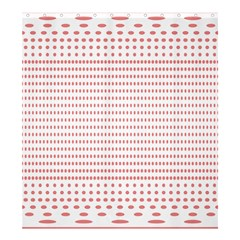 Dalmatian Red Circle Shower Curtain 66  x 72  (Large)