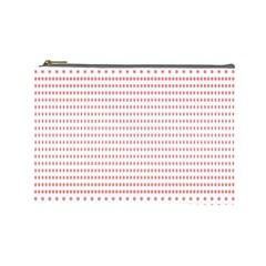 Dalmatian Red Circle Cosmetic Bag (Large)