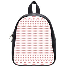 Dalmatian Red Circle School Bags (Small)
