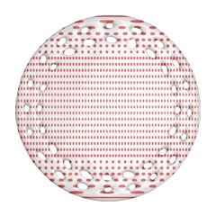 Dalmatian Red Circle Ornament (Round Filigree)
