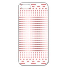 Dalmatian Red Circle Apple Seamless iPhone 5 Case (Clear)