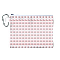 Dalmatian Red Circle Canvas Cosmetic Bag (L)