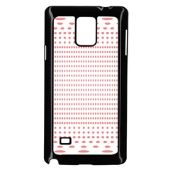 Dalmatian Red Circle Samsung Galaxy Note 4 Case (Black)