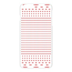 Dalmatian Red Circle Apple Seamless iPhone 6 Plus/6S Plus Case (Transparent)