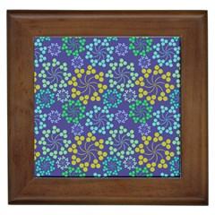Color Variationssparkles Pattern Floral Flower Purple Framed Tiles