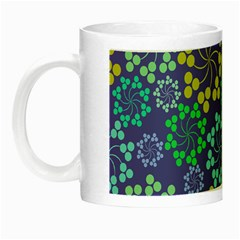 Color Variationssparkles Pattern Floral Flower Purple Night Luminous Mugs
