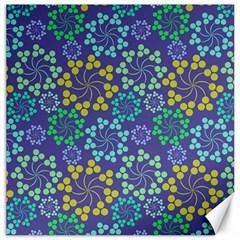 Color Variationssparkles Pattern Floral Flower Purple Canvas 12  x 12