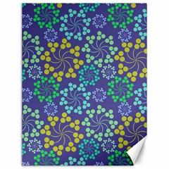 Color Variationssparkles Pattern Floral Flower Purple Canvas 12  x 16