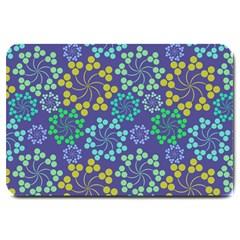 Color Variationssparkles Pattern Floral Flower Purple Large Doormat