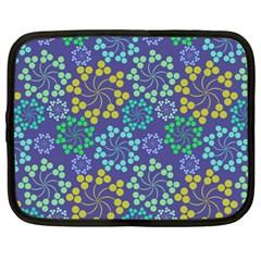 Color Variationssparkles Pattern Floral Flower Purple Netbook Case (Large)