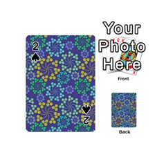 Color Variationssparkles Pattern Floral Flower Purple Playing Cards 54 (Mini)