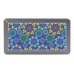 Color Variationssparkles Pattern Floral Flower Purple Memory Card Reader (Mini)