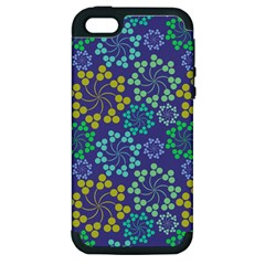 Color Variationssparkles Pattern Floral Flower Purple Apple iPhone 5 Hardshell Case (PC+Silicone)